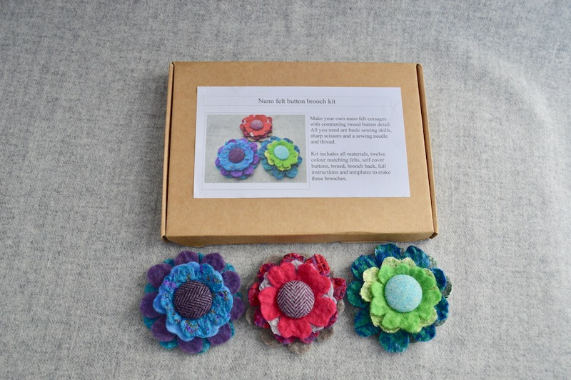 nuno felt button brooch kit