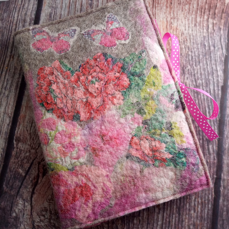 Nuno Felted A5 Journal (Pink)