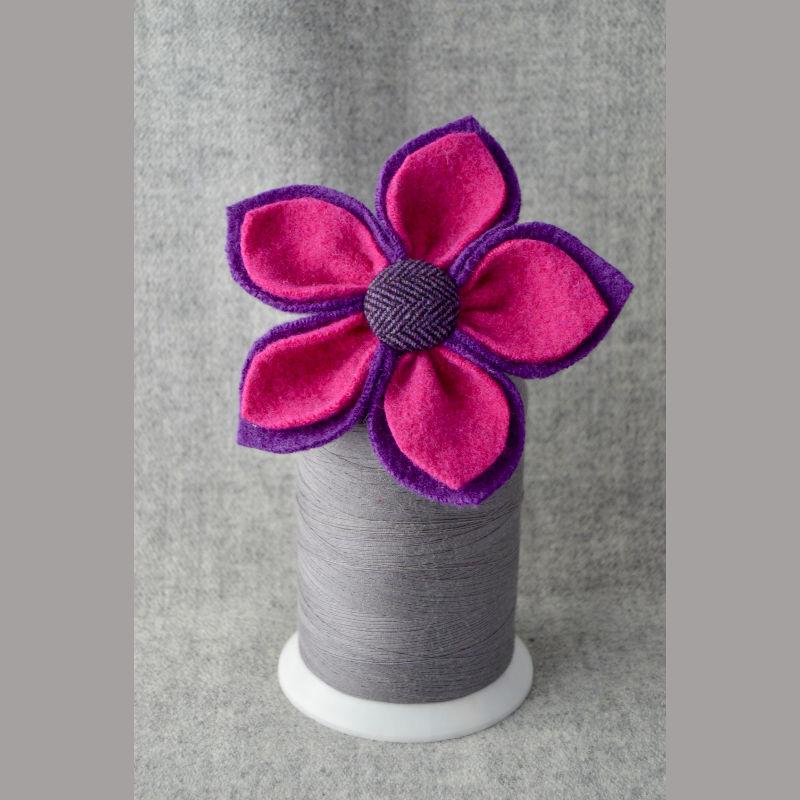 5 Petal Corsage (magenta & purple)