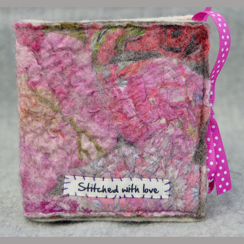 Needle case (stitched with love pink)