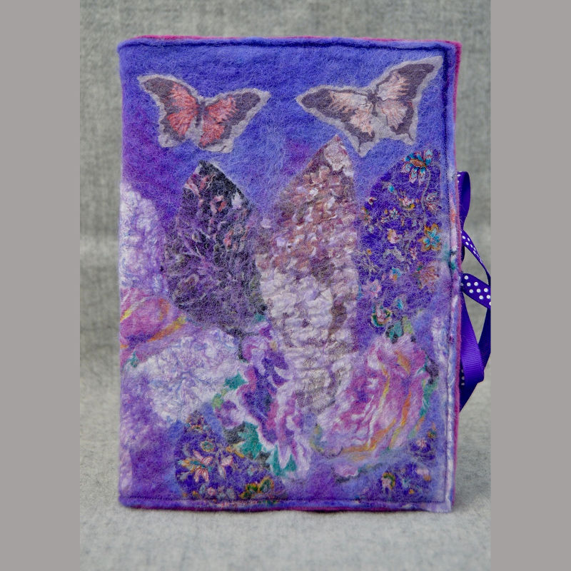 Nuno Felted A5 Journal (purple)