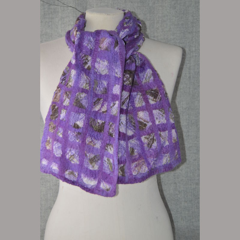 Purple Nuno Silk Scarf