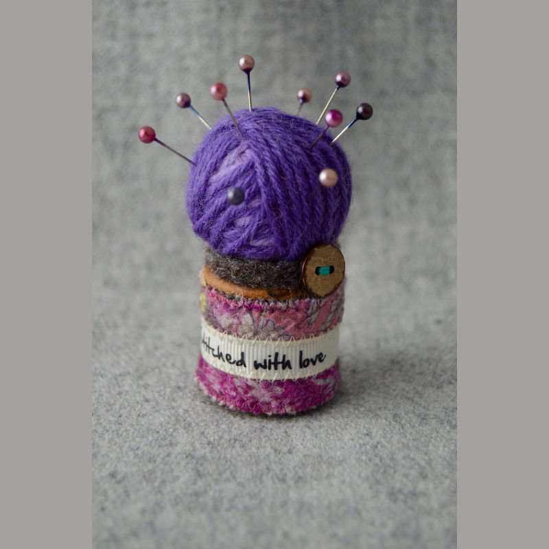 Pin Cushion (love purple)